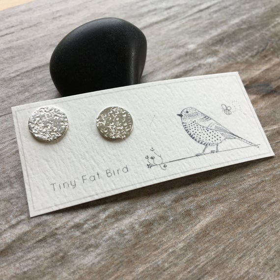 Concrete: Hammered Lunar Posts in Recycled Argentium Sterling