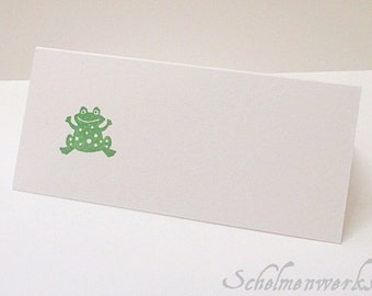 Place card with stamped frog (6 PCs)