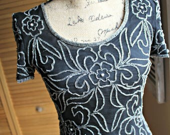 Vintage. Beaded top. Papell Boutique. Evening top. 1980's. Lovely top! Great shape!