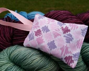 Pink & Purple Scribbles Lavender Sachet Handmade