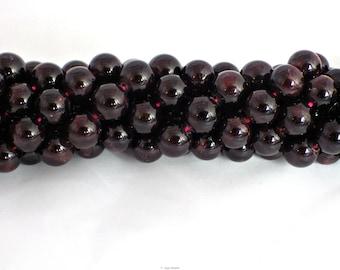 8mm Garnet Round Beads