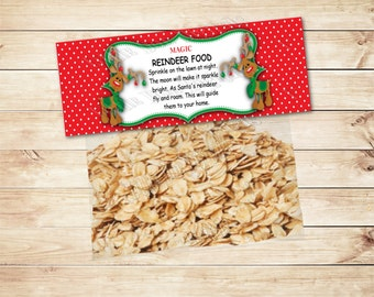 INSTANT DOWNLOAD - Magic Reindeer Food - Party Printable - Christmas - Deer