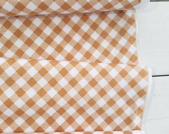 Sew Cherry 2 - Sew 2 Gingham(Nutmeg) - Lori Holt - Riley Blake Designs