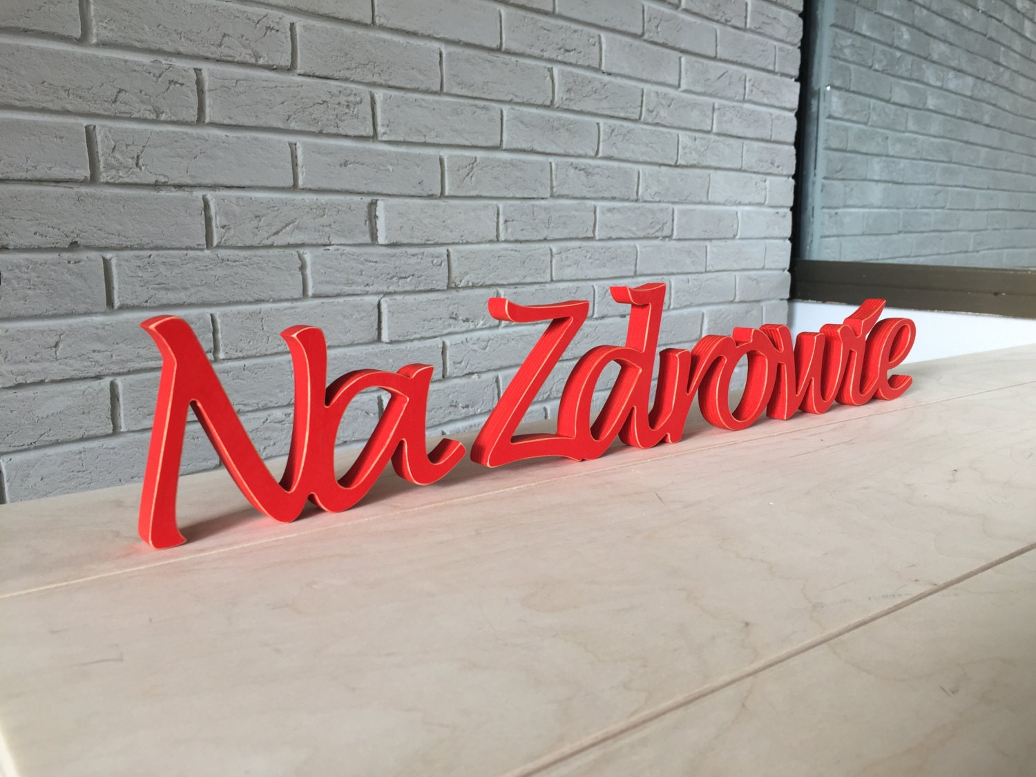 rustic wood sign na zdrowie, cheers in polish, restaurant decor