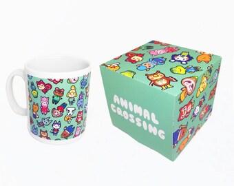 Chibi Animal Crossing Pattern ~ Wild World / New Leaf ~ Mug and Box Set