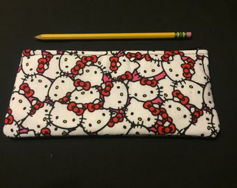 Hello Kitty Pencil Case / Zipper Pouch, Coin Purse, and Wristlet #71