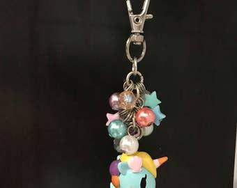 Tokidoki Sirena frenzies beaded keychain purse zipper charm fob