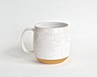 Ceramic Coffee Mug - Handmade Mug - Pottery Mug - Modern Mug - White Mug - Rustic - Unique Coffee Mug