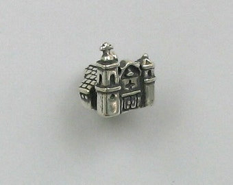 Sterling Silver 3-D Mission Charm