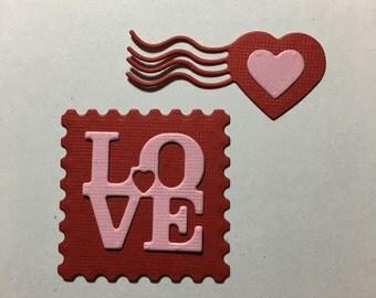 Love Postage Diecuts - 2 piece set
