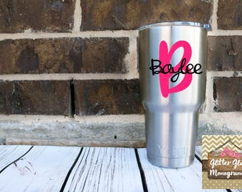 Yeti Decal Personalized-Tumbler Decal Personalized-Yeti Monogram-Yeti Decal-Glitter Decal-Yeti Cup Decal-Yeti Colster-Yeti Cooler-Yeti Decal
