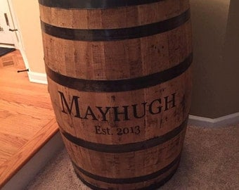 Personalized bourbon whiskey barrel