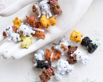 Tiny Pets Instant Collection of 21 - Miniature Rubber Dogs and Cats Toys - Puppies and Kittens