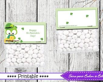 St-Patrick Treat Topper- St-Patrick's Day printable - Treat topper printable - Pdf Printable - St-Patrick Treat Toppers - Digital printable