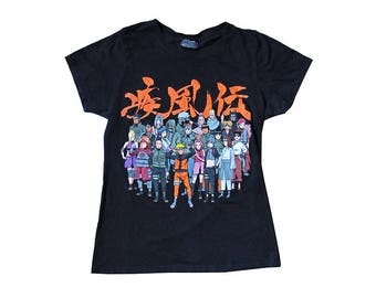 Naruto Shippuden Shonen Jump Black Womens T-Shirt Anime Japanese Animation Cartoon