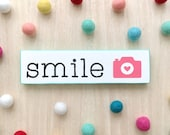 Smile wood sign