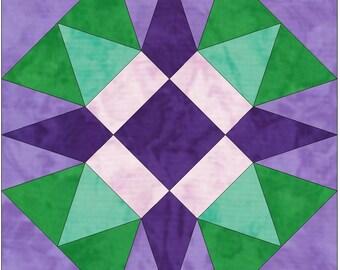 Star of North Carolina 15 Inch Block Paper Template Quilting Block Pattern PDF