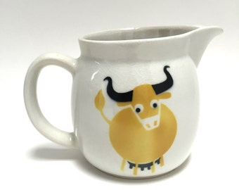 Arabia Finland Bull Pitcher - Arabia Finland Cow Jug - Kaj Franck Pitcher