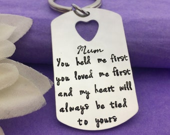 Mothers Day Gift - Mom Keychain - Hand Stamped Gift for Mum - Gift for Mothers Day - Mommy Keyring - Birthday Gift - Personalised Keyring