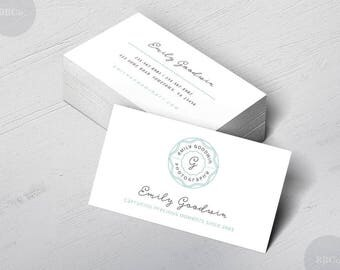 Pretty Crest: Elegant Business or Calling Card,Photographer,Boutique, Writer,Blogger,Spa Nail skin care,Soap Maker, Jewelry Maker