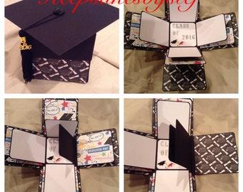 Graduation Explosion Box Photo Album  - Graduation Exploding box- Graduation Gift