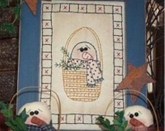 Snowman In A Basket E-Pattern/Instant Download