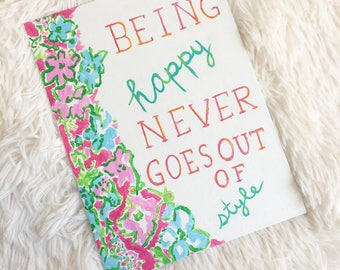Lilly Pulitzer Inspired Painting