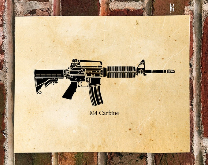 KillerBeeMoto: Limited Print M4 Carbine Battle Rifle Print