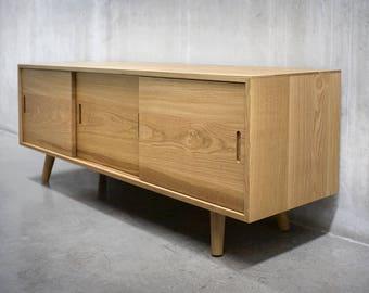 Solid White Oak Credenza/ Sideboard/ Cabinet/ Media Console *