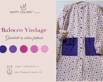 "Fancy cotton apron ""Balocco Vintage-Fancy"" kindergarten school painting and activities-Waldorf-Montessori-for children and adults"