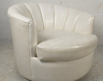 Mid-Century Modern Swivel Club Chair (3153)JR