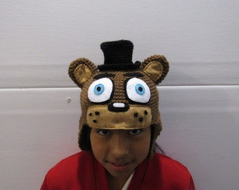 Super Cool Five Nights at Freddy's FNAF, FREDDY  Inspired Knitted Hat, All Sizes