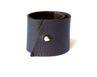 leather warrior cuff