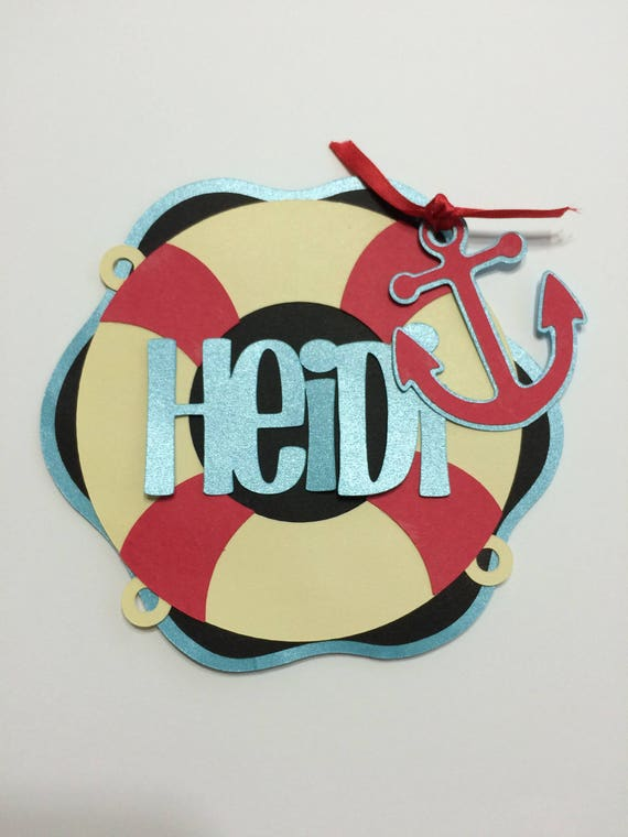 Personalized Life Preserver Cruise Door Decoration