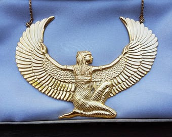 Gold Isis Goddess Necklace Premium - Large - plus free gift box and free  tracked shipping -The Isis Collection - Feather Tribe