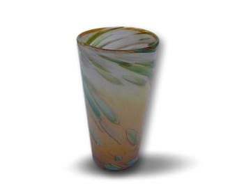 Hand Blown Pint Glass in Sunrise Colors
