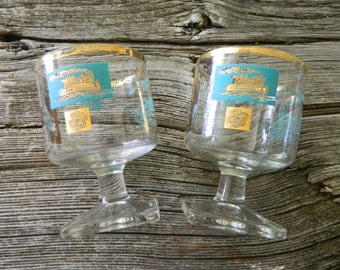 Libbey riverboat stemware / promotional for Southern Comfort