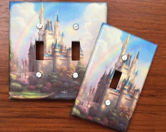Cinderella Castle Princess light switch cover // ** SAME DAY SHIPPING!