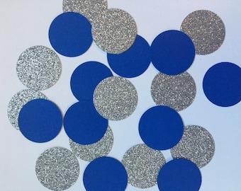 Birthday confetti - nautical birthday - blue and silver confetti - 30th birthday - 21st birthday - graduation confetti - first birthday