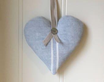Susie Watson Heart in True Blue Stripe