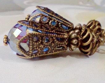 Hand Painted Earrings, Vintage Style Earrings, Handmade Victorian Earrings, Renaissance Earrings, Filigree Earrings, Boho Earrings, Vintage