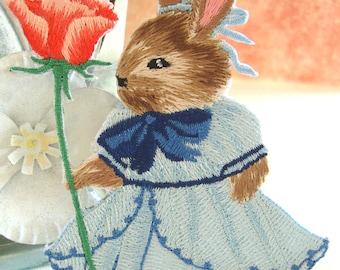 Bunny Baby Journal Embellishment,Bunny Patch