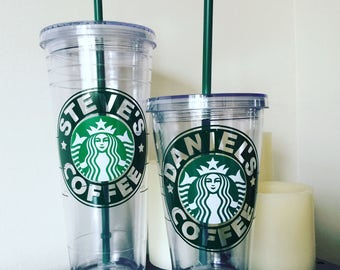 Personalized Starbucks Cold Drink Cup