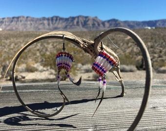 Native American Headress Beaded Earrings