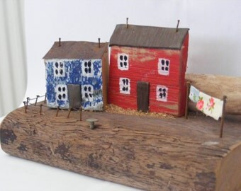 TONNAU, hand made driftwood house ,made in North Wales