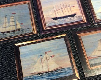 Nova Scotia / Nautical / Map Miniature Poster Packs