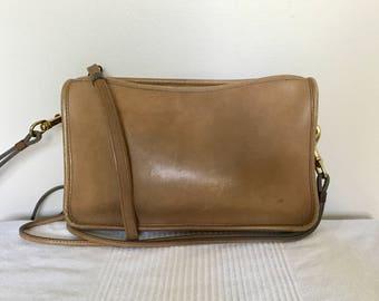 Vintage COACH Chestnut Brown Leather Bonnie Cashin Classic Top Zip Basic Shoulder Bag  Clutch Purse H221