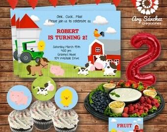 Editable-Printable On the Farm Party Kit