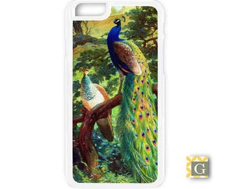 Galaxy S8 Case, S8 Plus Case, Galaxy S7 Case, Galaxy S7 Edge Case, Galaxy Note 5 Case, Galaxy S6 Case - Vintage Peacock