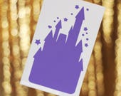 """Lavender Castle Decal [2.2 by 3.6""""]"""